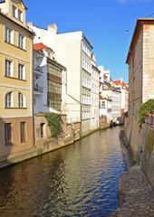 Water channel Certovka in Prague