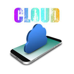 Cloud Computing Connection with smartphone,cell phone illustrati