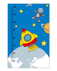 bumper children meter wall. space theme