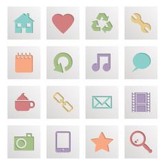 square media icons