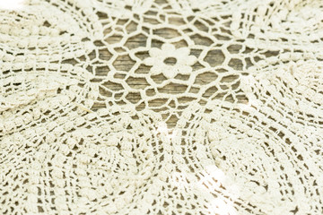 linen tablecloth knitted crochet