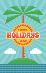 Summer Holiday - Vintage Retro Vector Illustration