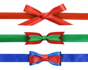 ribbon bows isolated on white background
