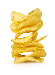 Potato chips isolated