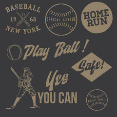 Vintage Baseball Labels
