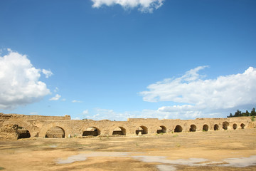 Roman aqueduct arches near Carthage