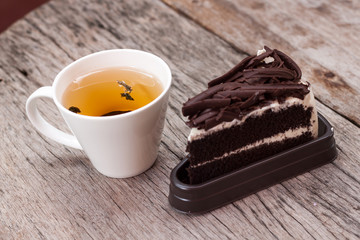 Hot tea and Chocolate cake 2