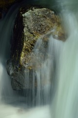 Rock in waterfall