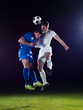 canvas print picture - soccer players duel