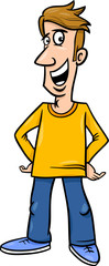 cheerful man cartoon illustration