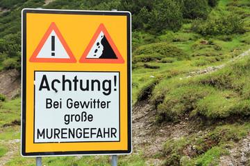 Gefahr im Gebirge - Murengefahr