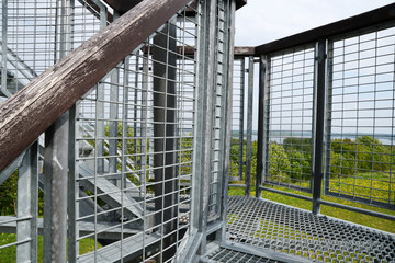 metal structure of the tower for viewing