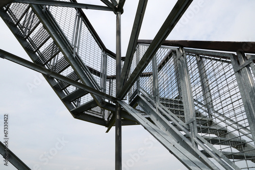 Deurstickers Trappen design of metal staircase