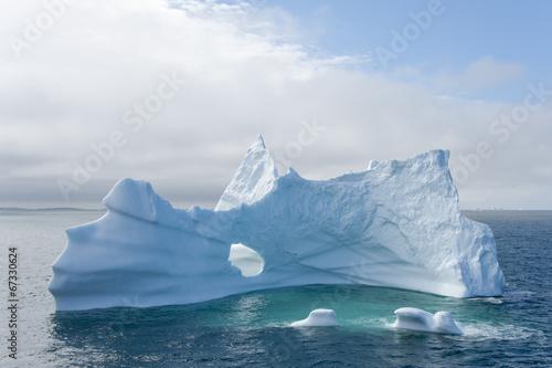 Fotobehang Poolcirkel Eisberg, Grönland
