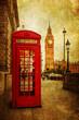 Obrazy na płótnie, fototapety, zdjęcia, fotoobrazy drukowane : nostalgisch texturiertes Bild von London