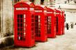 antik texturiertes Bild roter Telefonzellen in London - 67331817
