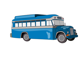 blue bus vector illustration