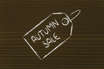 price tag with autumn sale
