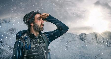 Bergsteiger Ausblick
