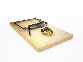 mousetrap with wedding rings