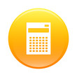 bouton internet calculatrice finance icon orange sign