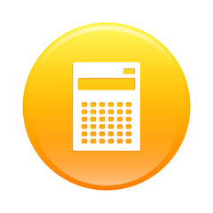 bouton internet calculatrice finance icon orange sign