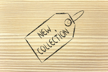 price tag with new collection