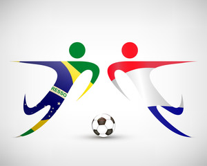 Fußball - Brasilien gegen Holland