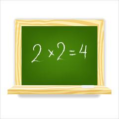 Class chalkboard. Vector illustration