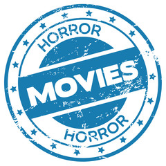 horror movies stamp