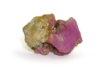 Uncut ruby from Prilep, Macedonia. 3.4cm across.