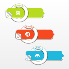 Modern infographics options banner. Vector illustration.