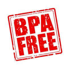 BPA FREE red stamp text