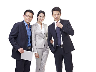 asian business team, isolated on white