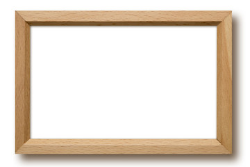 Wood frame isolated on white