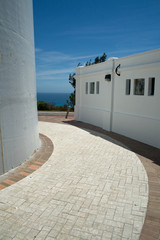 A close up of a path around Gibbs Hill Lighthouse, Bermuda