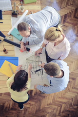 Group of Architects working at project