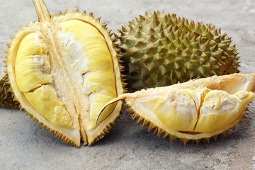 Durian fruit ripe for eaten