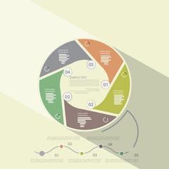 Universal infographic template, flat design, vector illustration