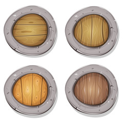 Comic Rounded Viking Shields