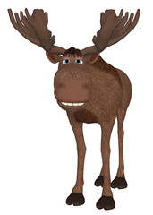 3D cartoon Moose