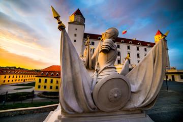 sculpturу in Bratislava castle