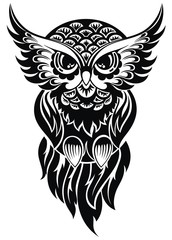 Owl. Tattoo design