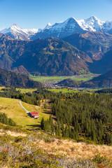Alphütte und Eiger
