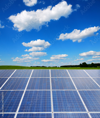 solar power plant in the landscape - 67338070