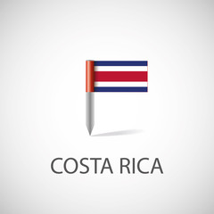 costa rica flag pin