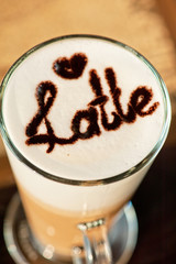 latte closeup
