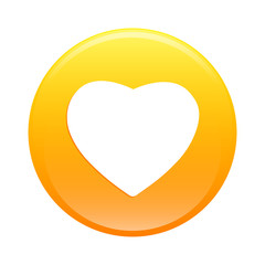 Bouton internet coeur sign icon orange web