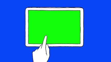Hand drawn touch screen gestures on a touchpad