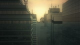 Aerial CGI city poster